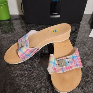 DR. SCHOLL'S Originals PLAID WOOD sandals
